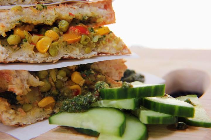 Vegan Pav Bhaji Toasties with Mint and CorianderChutney